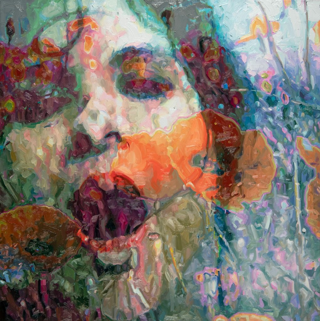 alyssa monks painting roar poppy fields face